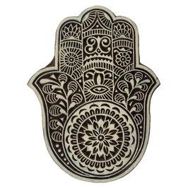 Holzstempel Block Print Hand von Fatima gross M130