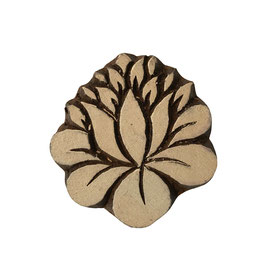 Holzstempel Block Print Lotus  M113