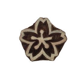Holzstempel Block Print Blume M 8