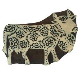 Holzstempel Block Print Swiss Cow M55