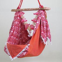 Babyhängematte pink flower 6
