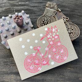 Postkarten handbedruckt mit indischen Holzstempel 20
