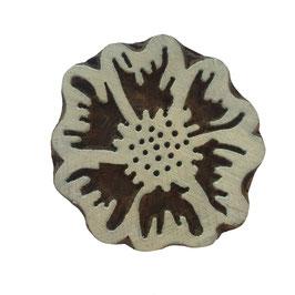 Holzstempel Block Print Blume M 82