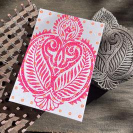 Postkarten handbedruckt mit indischen Holzstempel 10