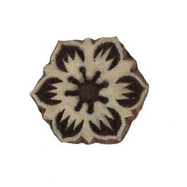 Holzstempel Block Print Blume M 16