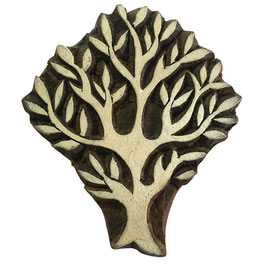 Holzstempel Block Print Baum 33