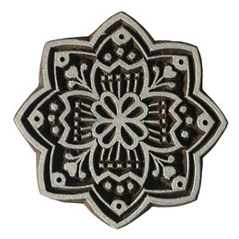 Holzstempel Block Print  Mandala Stern M188