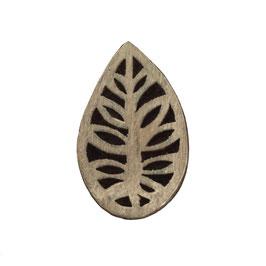 Holzstempel Block Print Blatt M 4