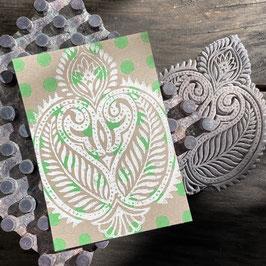 Postkarten handbedruckt mit indischen Holzstempel 15