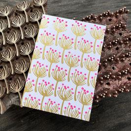 Postkarten handbedruckt mit indischen Holzstempel 1