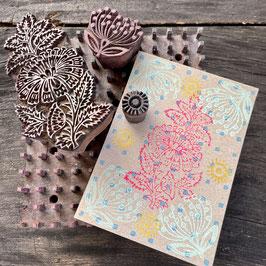 Postkarten handbedruckt mit indischen Holzstempel 25