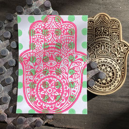 Postkarten handbedruckt mit indischen Holzstempel 14
