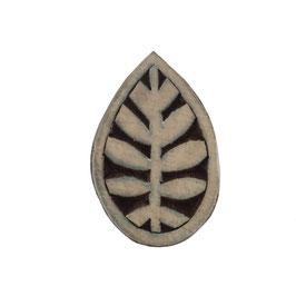 Holzstempel Block Print Blatt M 1