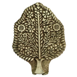 Holzstempel Block Print Baum 23