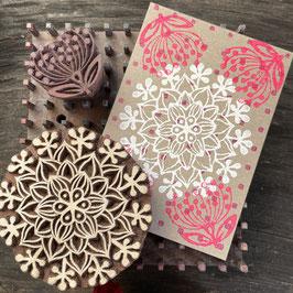 Postkarten handbedruckt mit indischen Holzstempel 26