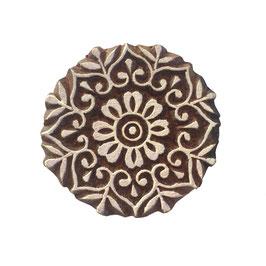 Holzstempel Block Print  Mandala klein M132