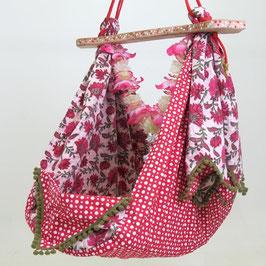 Babyhängematte pink flower 2
