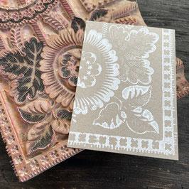 Postkarten handbedruckt mit einem alten Glarner Stempel 32