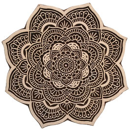 Holzstempel Block Print Mandala M 178