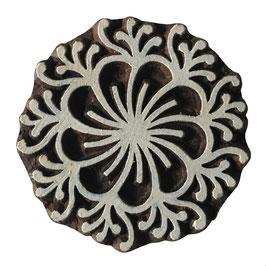 Holzstempel Block Print  Blumen Mandala  M192