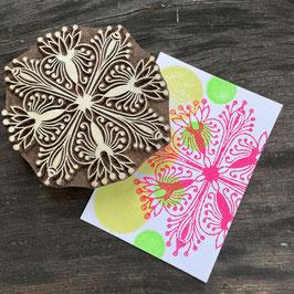 Postkarten handbedruckt mit indischen Holzstempel 6