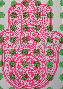 Postkarten handbedruckt mit indischen Holzstempel 8
