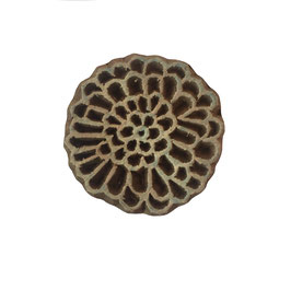 Holzstempel Block Print Blume M 77