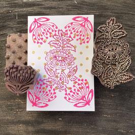 Postkarten handbedruckt mit indischen Holzstempel 29