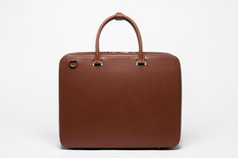 Faire Leather Briefcase Brown