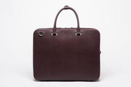 Faire Leather Briefcase Burgundy