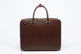 Faire Leather Briefcase Dark Brown