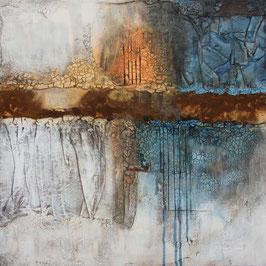 mixedmedia auf canvas mit marmormehl