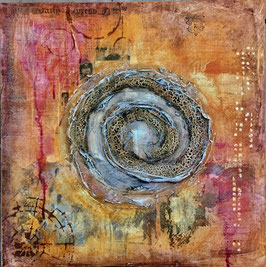 "mixedmedia auf canvas ""spirale orange"""