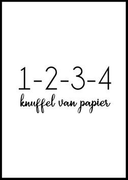 Knuffel van papier