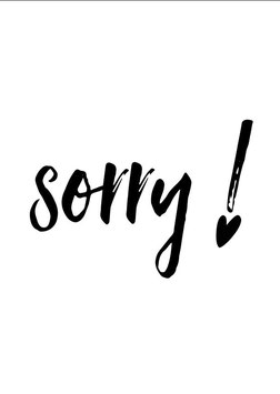 Sorry !