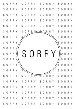 Sorry sorry sorry