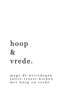 Hoop & Vrede