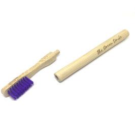 Brosse à dent bambou rechargeable souple violet