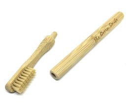 Brosse à dent bambou rechargeable souple beige