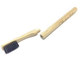 Brosse à dent bambou rechargeable au charbon actif