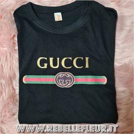 Tshirt Italy Gold Nera