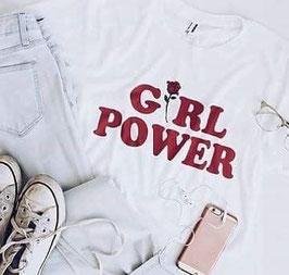 Tshirt Girl power Rosa