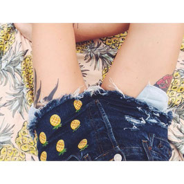 Denim Shorts Ananas