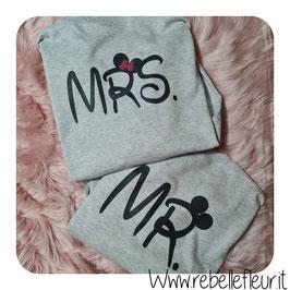 Felpa copppia Mr e MRS