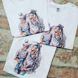 Tshirt mamma e figlio orecchie