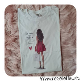 Tshirt red woman