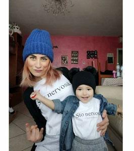 Tshirt Mamma e figlio/a sto nervosa