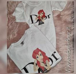 Tshirt mamma e figlia Ariel Punk