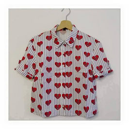 Camicia CROP Top Love Sail