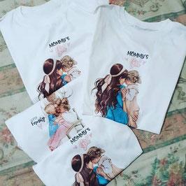 Tshirt mom's girl - mamma e figlia